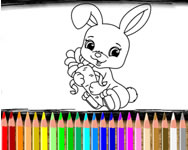 Rabbit coloring book HTML5 online